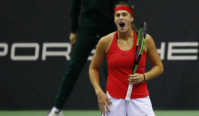 Sabalenka of Belarus wins WTA Mumbai Open